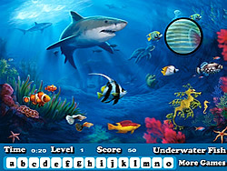 Game Fish Hidden Letters