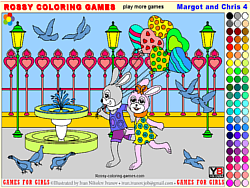 Margot and Chris 4 - Rossy Coloring игра
