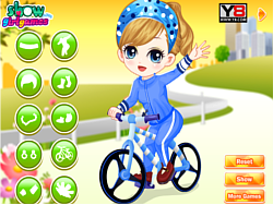 Game The Little Girl Learn Bicycle