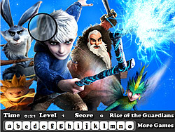 Game Rise of the Guardians Hidden Letter