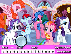 My Little Pony Hidden Letter game
