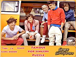 Играть бесплатно в игру Famous pop singers puzzle