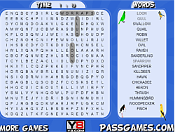Game Birds Word Search