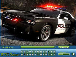Game Police Cars Hidden Letters