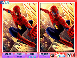Game 10 Differences Spiderman