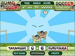 Gioca gratuitamente a Sumo Sushi Soccer