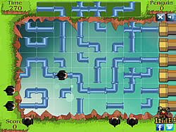 Game Penguin Pipe Maze