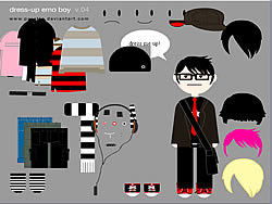 Little Emo Boy Dress Up