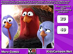 無料ゲームのFree Birds Jigsawをプレイ