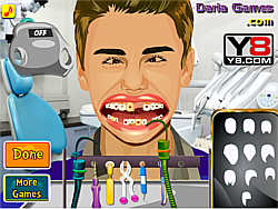 Game Justin Bieber at Dentist