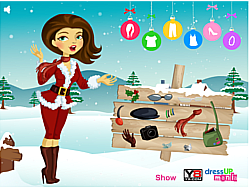 Annie Christmas Dress Up game