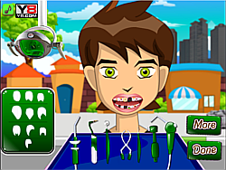 Jouer au jeu gratuit Ben 10 at the dentist