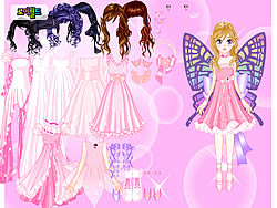 Pink Butterfly Dress up game