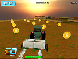 Game Tractor Farm Parking