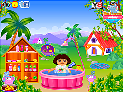 Dora Fun Bathing game