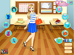 無料ゲームのFabulous Back to School dressupをプレイ