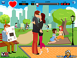 Game Naughty Park Kiss