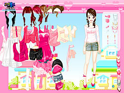 Pink Closet Dressup παιχνίδι