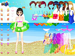 Sea Swimming Dressup oyunu
