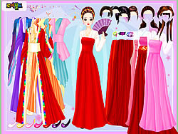 Gown and Robe Dressup game