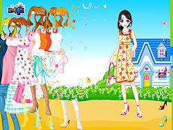 Blue House Spring Dressup لعبة