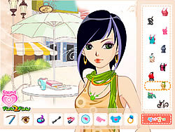 Afternoon Cafe Dressup game