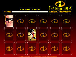 The Incredibles Mega Memory oyunu