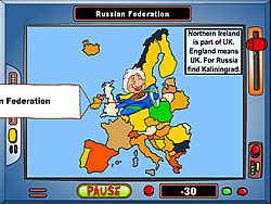 Geography Game: Europe game