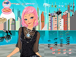 City Lights Dressup oyunu