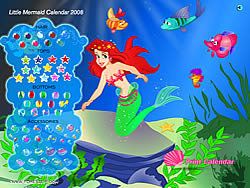 Little Mermaid Calendar 2008 game