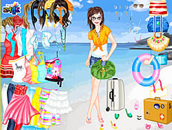 Gioca gratuitamente a Beach Holiday Dress Up