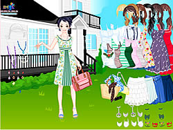Gioca gratuitamente a Summer Garden Dress Up