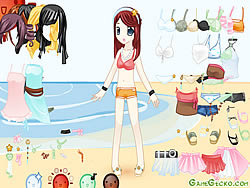 Gioca gratuitamente a Beach Doll Dressup