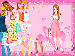 Game Pink Heart Dressup