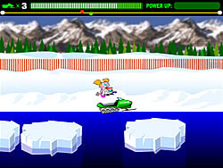 Super Snowmobile Rally game