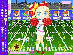 Football Cheerleader game