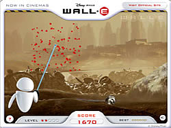 Wall-E Scrap Shoot game
