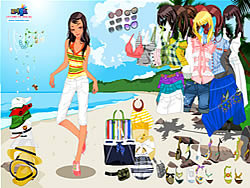 Celeste Beach Dressup game