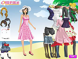 Summer Holiday Dressup game