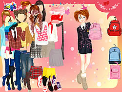 School Bag Dressup oyunu