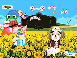 Gioca gratuitamente a Puppy in the Field Dressup