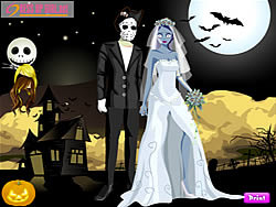 Halloween Couple Dressup لعبة