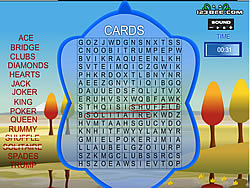 Gioca gratuitamente a Word Search Gameplay 4 - Cards