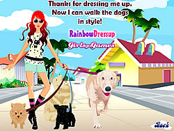 Dog Walking Dress Up game