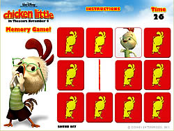 Permainan Chicken Little - Memory Game