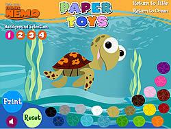 Permainan Finding Nemo - Paper Toys