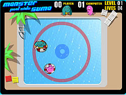 Permainan Monster Poolside Sumo