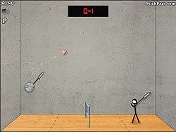Maglaro ng libreng laro Stick Figure Badminton