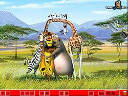 Hidden Numbers - Madagascar game