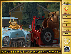 Open Season - Find The Alphabets game